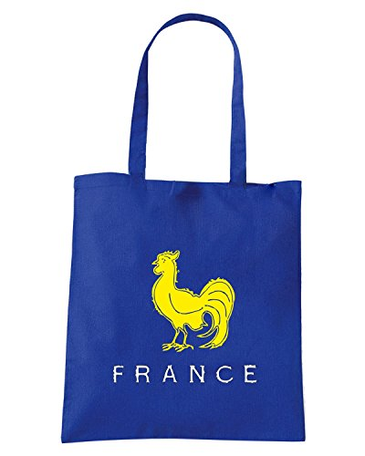 T-Shirtshock - Borsa Shopping TRUG0171 ruggershirts france rugby vintage t logo Blu Royal