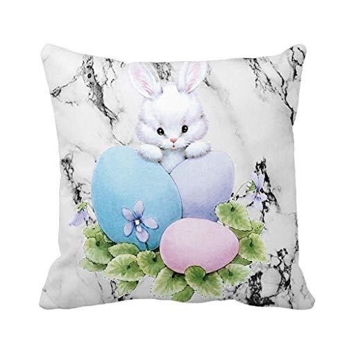 URIBAKY Ostern Kaninchen Throw Kissenbezug Taille Kissenbezug Kissenhülle Schlafsofa Home Decor Auto Decor Leinen