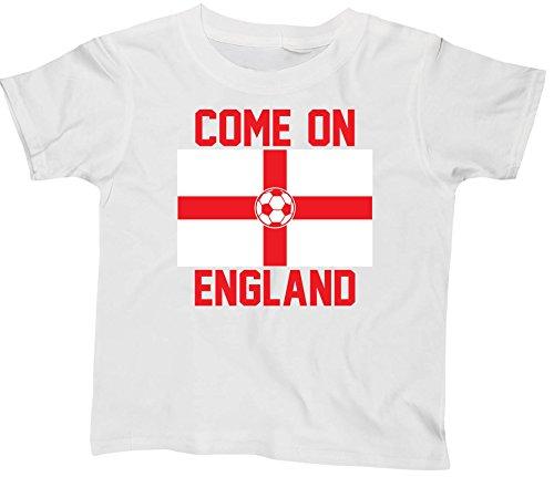Hippowarehouse Come on England Football Flag Kids Children's Short Sleeve t-Shirt