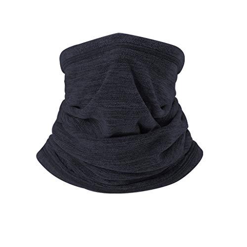 QIjinlook Unisex Bandana Cap Multifunktionstuch, Radfahren Kopftuch UV-Schutz, Outdoor Halstuch, Radsport Hat, Laufen Fahrrad Kopfband, Kopfbedeckung Damen und Herren (Schwarz)