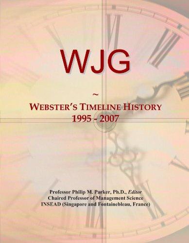 WJG: Webster's Timeline History, 1995-2007