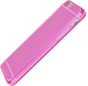"""Coque IPHONE 6S 4,7"""" / IPHONE 6 4,7"""" - ComWace © - Silicone gel TPU rose fushia translucide haute densité - Protection arrière anti-choc - Film de protection d'écran offert"""