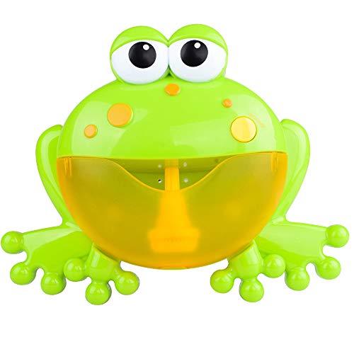 Dream Room Badespielzeug Frösche Bubble Maker Machine,Blase Badespielzeug Seifenblasenmaschine Wasserspielzeug Krabben Automatisch Bubble Baby Spielzeug mit MusikSpielzeuggeschenk (Grün1 (20x25.5cm))