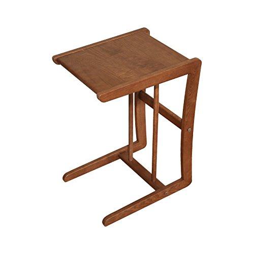 Hongsezhuozi Tische Tee Tisch Couchtisch Massivholz Beistelltisch Modern Minimalistisch Mobil Klein Quadratisch Tisch Telefonständer Nachttisch Regal Freizeit Tisch Asche Bücherregal