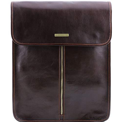 Tuscany Leather Exclusive Housse pour Chemises en Cuir Marron foncé