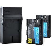 2x BPS 1800mAh LP-E6 LP E6 baterías + 1x cargador de batería para Canon EOS 5D Mark II III 5DS 6D 7D 60D 60Da 70D 7D Mark II III Cámara réflex digital