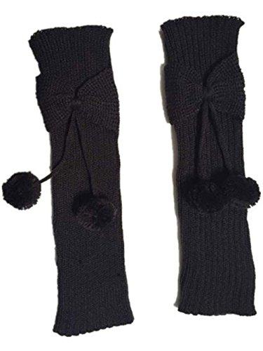Mythgiftuk 2 Paar Neon Mädchen Beinlinge Knit Bowknot Boot Socken Ball Boot Manschetten Für Kinder Nette Boot Toppers Beinling