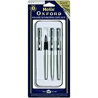 OXFORD - Bolígrafos, color plata. OXFORD Set de escritura (3 piezas)