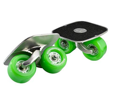 Freeline Drift Skates mit 70mm Räder und ABEC 7 Kugellager (Grün)