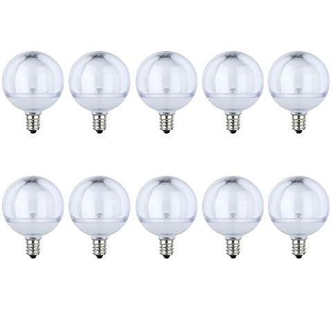 LED g40 glühbirne für g40 lichterkette, Ersetzt 7 Watt, Warmweiß - 2700 Kelvin, 10er-Pack