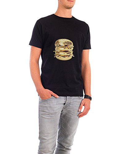design-t-shirt-hommes-continental-cotton-le-golden-big-mac-en-noir-taille-5xl-t-shirt-essen-trinken-
