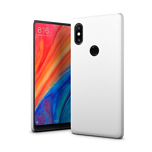 Custodia Xiaomi Mi Mix 2S, SLEO Cover Xiaomi Mi Mix 2S [Protezione 360°] Thin Fit, [Cover Sottile & Robusto] Rivestimento Soft-Feel, Ultra Leggero Protetto PC Duro Case per Xiaomi Mi Mix 2S - Bianco
