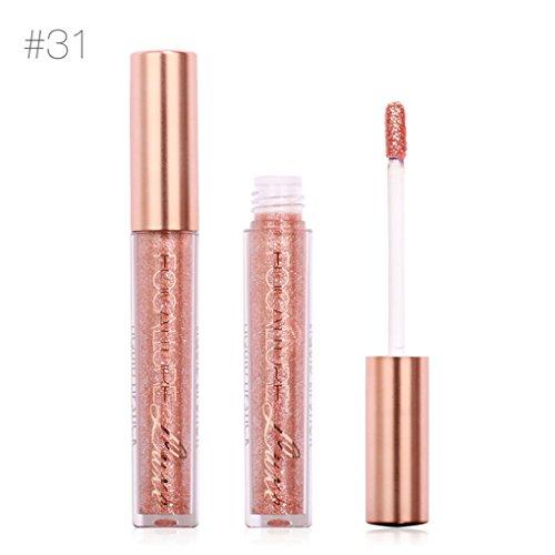 Chunyang Reizvolle wasserdichte flüssige Lippenmetallischer Lippenglanz-nackte Glitter-Lippenverfassung Lippenstift -