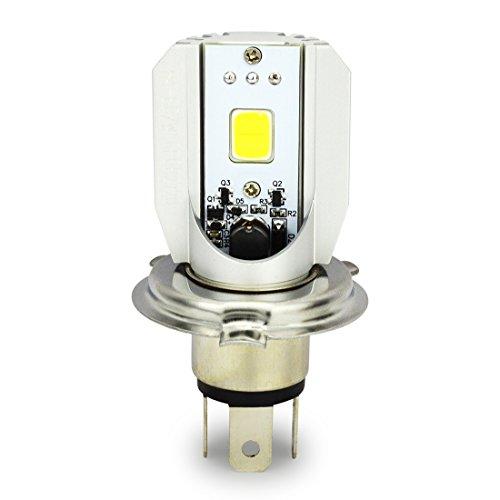 Safego Lampadine H4 P43T per faro MOTO BICI Lampada Faro Della Luce Super Luminosa Lampada con COB Chip Bulbi LED 6000K Bianco 12V DC Motore motorino