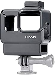 جراب Ulanzi V2 Vlog Case Action Camera Action Shell Vlogging Cage مع حامل حذاء بارد لGoPro Hero 7 6 5 أسود للم