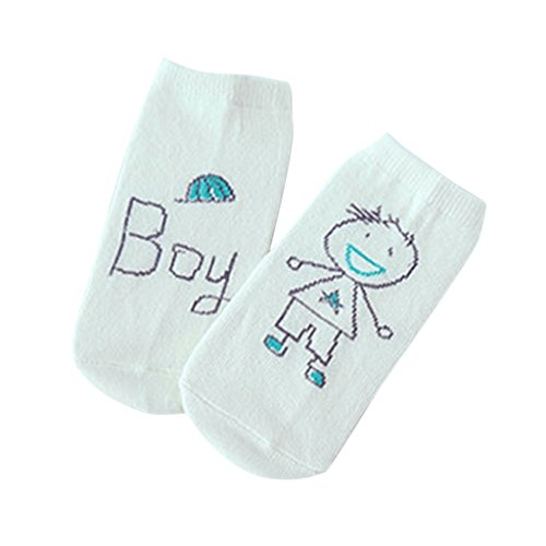 Phenovo Unisex Cotton Baby Socks Newborn Anti-slip Cute Floor Booties Socks Green M  available at amazon for Rs.285