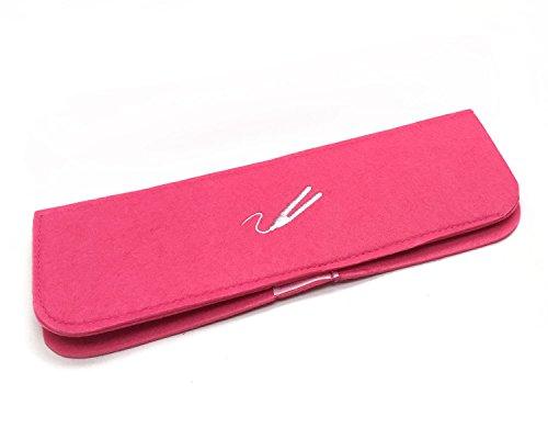 Pink für Glätteisen, hitzebeständig, mit Reisetasche Lockenstab Zauberstab Chi