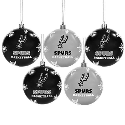 Forever Collectibles San Antonio Spurs 2016 5 Pack Bruchsichere Ball Ornament Set - San Antonio Spurs-bean-bag