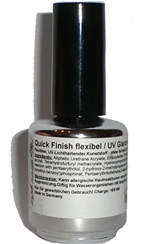 Quick Finition Flexible Colles Gel, transparent, 15 ml : dünnvisk Oses, finition Flexible sans couche de transpiration Gel Top Qualité Pour Vos ongles.