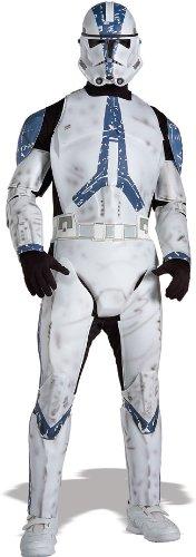 Deluxe Clone Trooper Star Wars Herren Kostüm Größe XL zu Fasching (Clone Star Wars Kostüm)