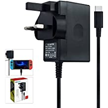 Charger for Nintendo Switch, AC adapter Compatible with Nintendo Switch - Fast Travel Wall Charger with 5FT USB Type C Cable 15V/2.6A Power Supply for Nintendo Switch Supports TV Mode and Dock Station