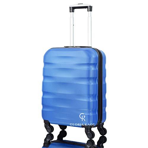 Gloria Kaos - Valigia Max Cabin 55x40x20cm Bagaglio a Mano Ultra Leggero Antigraffio - Ideale Per Ryanair, Alitalia, Meridiana, EasyJet, WizzAir, Ecc.