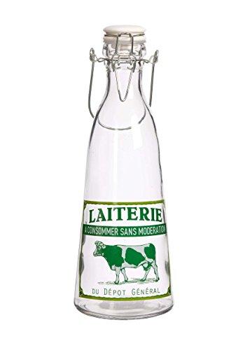 Bouteille en verre Porte Lait boissons jus de fruits Comptoir de Famille 162270 vache