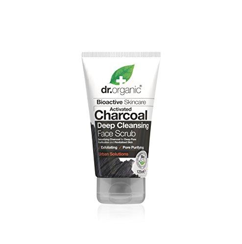 Dr. organic scrub viso purificante al carbone attivo - 125 ml