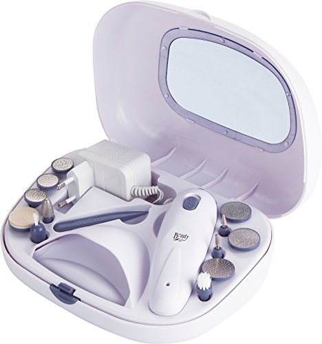 Jata SM110B - Set de manicura, pedicura, color blanco