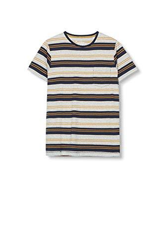 ESPRIT Herren T-Shirt 106ee2k013-Slim Fit, Blau Gelb (honey Yellow 710)