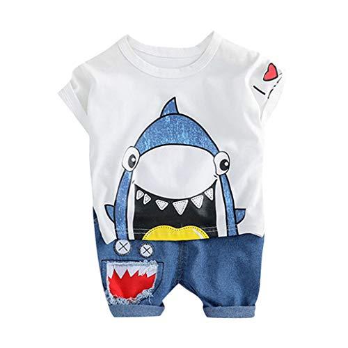 d3fe4f569bc8 Soupliebe Bebe niño Manga Corto Camisetas Baby Ropa de bebé niño de  Primavera Kids Boys Cartoon