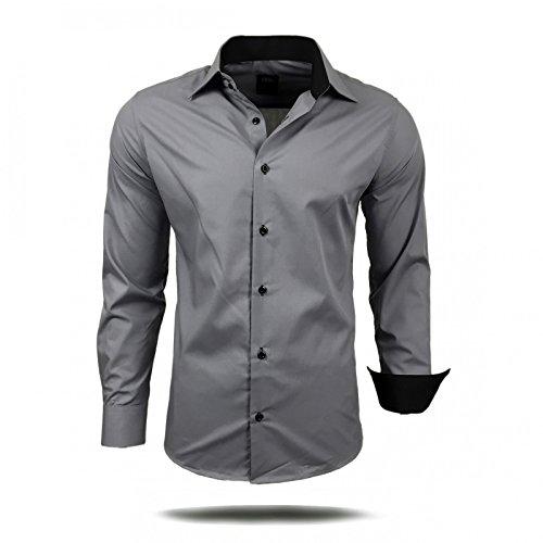 Herren Hemd Hemden Business Hochzeit Freizeit Slim Fit Bügelleicht S M L XL XXL