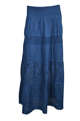 Boho Chic Designs -  Gonna  - linea ad a - Donna Blue
