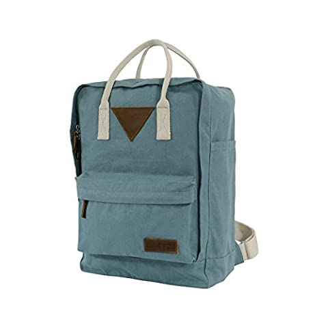 Ansvar II Organic Cotton Canvas Backpack - Teal - High Quality Unisex Daypack from 100% Sustainable Material - Water-Repellent - First GOTS & Fairtrade certified Rucksack