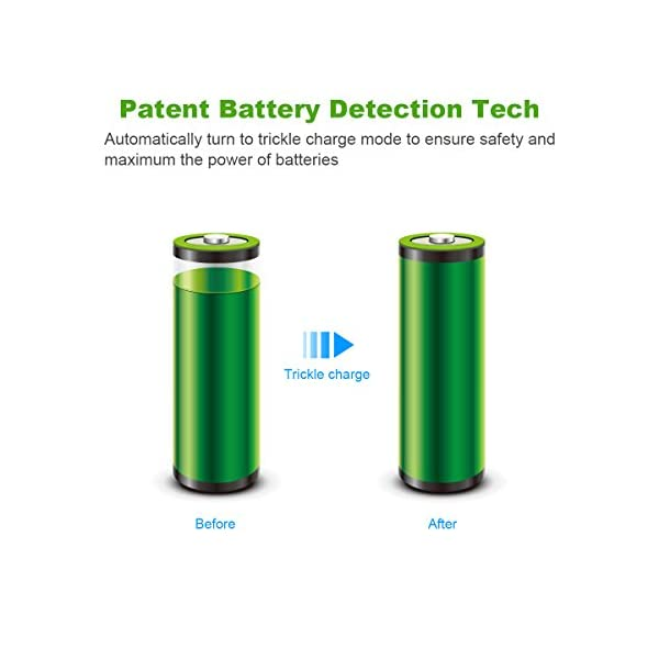 EBL Batteries with Charger, 808 AA AAA Battery Charger with 2800mAh AA Rechargeable Batteries (4 Pack) and 1100mAh AAA… 6