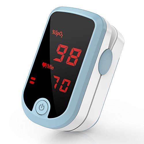 Pipishell Pulsoximeter Sauerstoffsättigung Messgerät SpO2 und Puls mit Ton- mit großem LED-Bildschirm