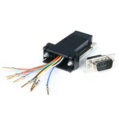StarTech.com DB9 auf RJ45 Modular-Adapter (Stecker/Buchse, Seriell Adapter DB-9 / RJ-45, St / Bu) - Rj-45-seriell-adapter