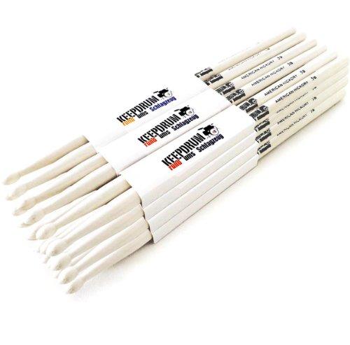 drumsticks 5b KEEPDRUM 5B Hickory Drumsticks Schlagzeug-Stöcke 12 Paar