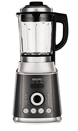 Krups KB852E Batidora de vaso 2L 1300W Negro, Plata - Licuadora (2 L, Giratorio, 30000 RPM, Batidora de vaso, Negro, Plata, 1300 W)