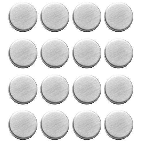 Très jolie lot de 16 aimants rond aimants en acier inoxydable pour réfrigérateur et tableau magnétique
