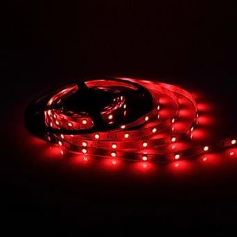 5m 7w 150x5050 smd rotes licht led streifen lampe dc 12v beleuchtung. Black Bedroom Furniture Sets. Home Design Ideas
