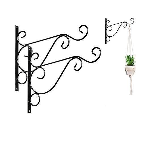 Koitoy Haken für Blumenampel Wandhalterung für Blumentopf, Garten, Windspiele,Blumenampelhalter (2)