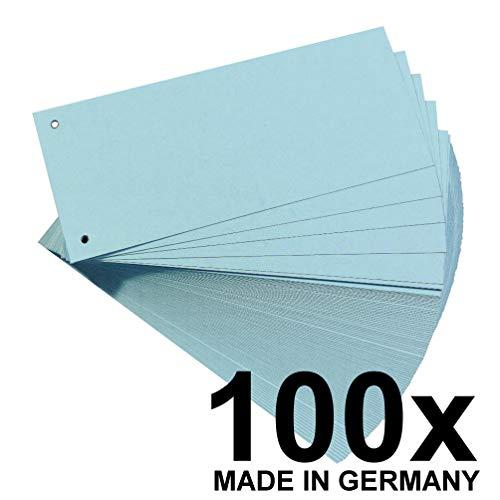 falken trennblaetter Falken Karton-Trennstreifen 10,5 x 24 cm 100er Pack blau Trennlaschen Trennblätter Ordner Register Blauer Engel
