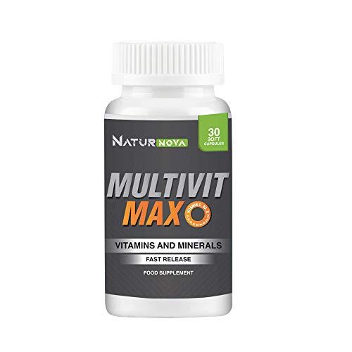 Multivit Max   Potente complejo multivitamínico   Vitaminas A, B, B6, B12, B9, C, D, E y...