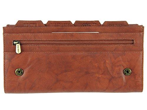 Visconti Leder-Tasche für Pass, Tickets, Karten, 1179 Braun