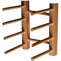 3 Rejillas Estante Bandeja de Almacenamiento Plato Cocina Sostenedor de Bambú  Placa Soporte Escurridor 5a18a51545b5