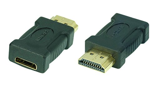 SunshineTronic High Speed HDMI-Adapter (mini HDMI-Buchse(C) auf HDMI-Stecker(A))