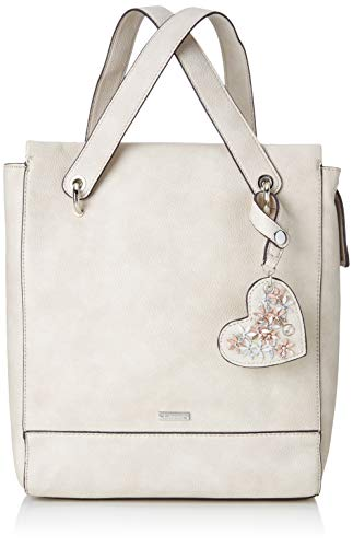 Tamaris Damen Milla Backpack Rucksackhandtasche, Grau (Light Grey), 11x30x27,5 cm