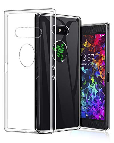 TopACE Razer Phone 2 Hülle, TPU Hülle Razer Phone 2 Schutzhülle Durchsichtig Klar Silikon transparent für Razer Phone 2 (Transparent)