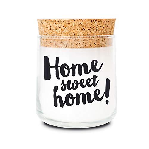 FEEL GOOD CANDLE - Duftkerze im Glas - Kerze mit Motiv als Geschenk für Frauen und zur Dekoration (Home Sweet Home, ohne Duft) -